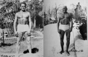 Joseph Pilates 57 és 82 éves korában!