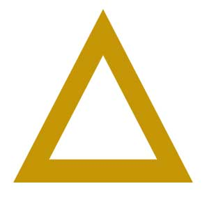 how to draw a golden triangle